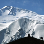 Trekking tour to the Lenin peak,Central Asia